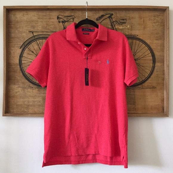 6c88c62b0 Polo by Ralph Lauren Shirts | Nwt Polo Rl Red Custom Slim Fit Shirt ...